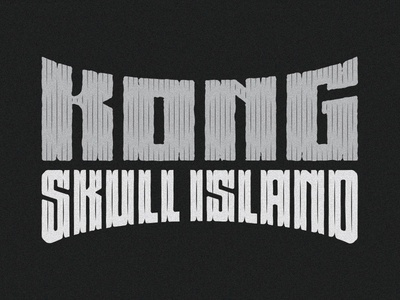 Kong Skull Island  typography type movie title movie lettering hand lettering