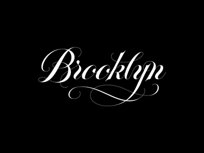 Brooklyn // The Spencerian Script edition spencerian script hand lettering lettering typography type