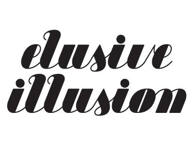 Elusive illusion logo filled