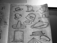 Hat sketches