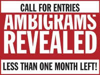 Call For Entries // Ambigrams Revealed