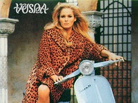 Vespa girl ad
