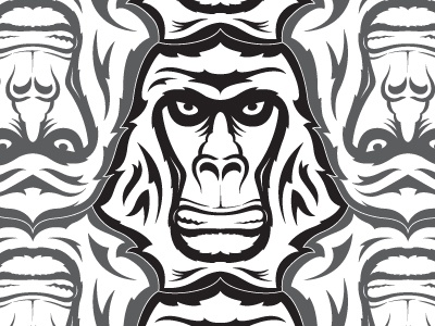 Gorilla/Primate Tessellation by Nikita Prokhorov - Dribbble