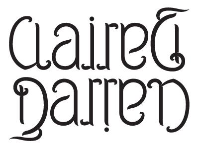 Claire darren ambigram shot