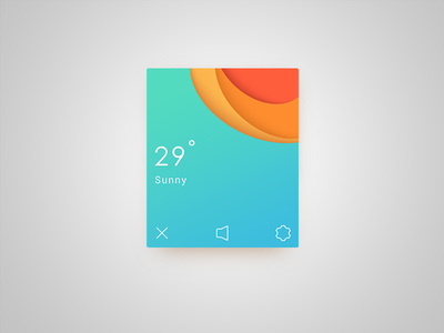 Sunny weather color ui happy card sunny
