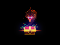 Your Christmas present is here chinese game dragon chest christmas icon black illustration color ui