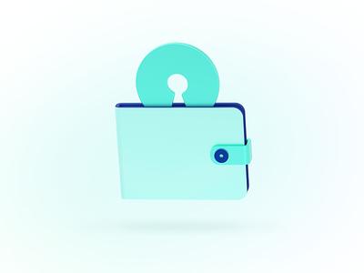 Open Source Wallet icon pictogram 3d wallet open source