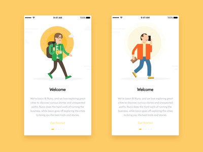 Onboarding Characters illustration characters app mobile onboarding