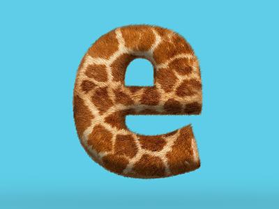 e is for enimal furtype giraffe fur e