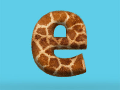 e is for enimal furtype giraffe fur e
