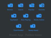 Music App Folder Icons - Tab Icon