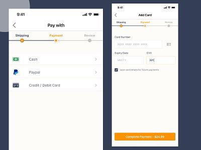 Payment - DailyUI 002 design ui app