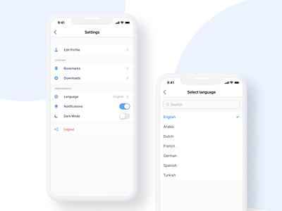 Settings - DailyUI ux icon ui design app
