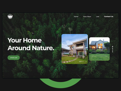 Website Design for Hidden Hollow Acres tree property parallax minimal landingpage homepage clean buy book home house nature green owento 2021 website design design website graphic design ui