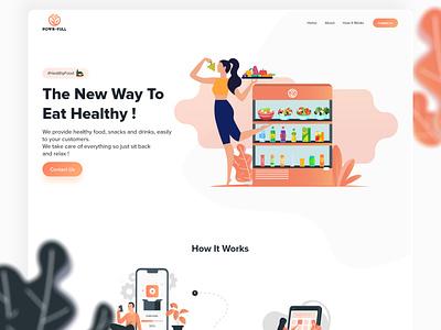 POWR-FULL Website Design illustration webdesign ux graphic design website ui owento design