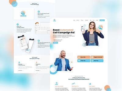 Website Design🔥 owento design effect light website web design ui webdesign interface glasseffect glass home page hero call orange blue glassmorphism modern white clean