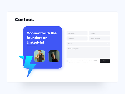 Contact Form Design branding logo design websitedesign web design web simple userexperience userinterface uxdesign uidesign webdesign website white contact modern clean uiux ux ui