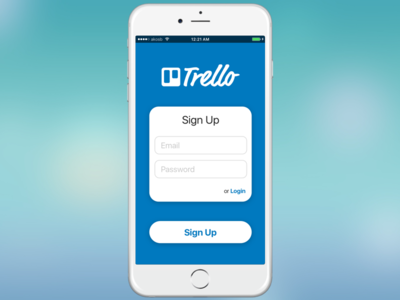 Trello Sign Up Form - Daily UI
