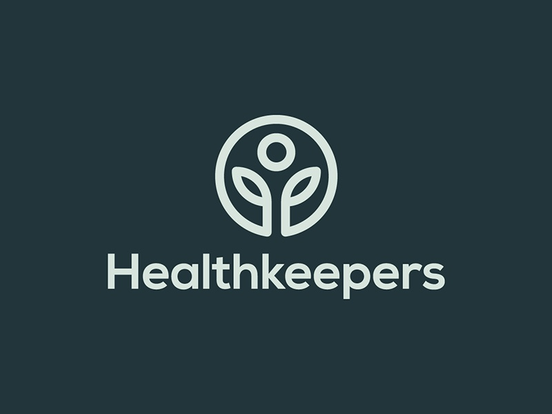 Healthkeepers food nutrition healthy health identity brand branding symbol mark logo