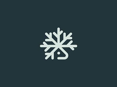 Deer deer snowflake christmas minimal identity brand branding symbol mark logo