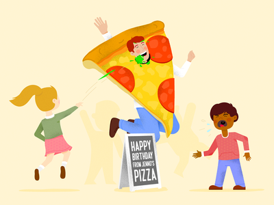 How to be happy at work management tracking time remote stress excited kids job tips pizza happy work
