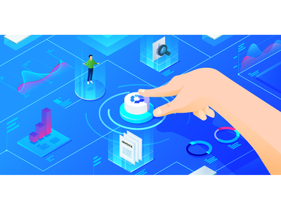 What's New in Hubstaff: September 2018 hubstaff hologram hand arm button tracking dashboard reports invoices clients blue isometric timetracking time