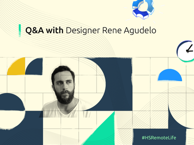 Q&A Rene Agudelo remote work uidesign app ux hubstaff colombia branding illustration remote logo bogota design
