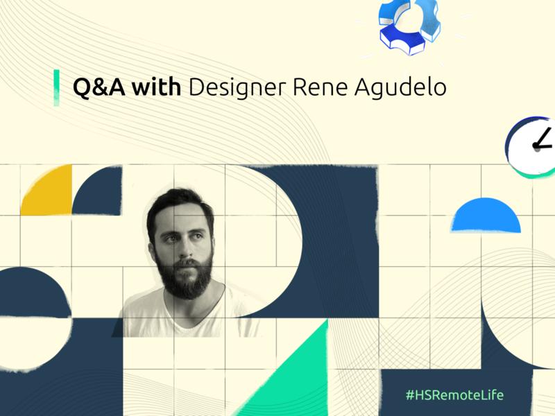 Q&A Rene Agudelo remote work uidesign app ux hubstaff colombia branding illustration remote logo bogota design