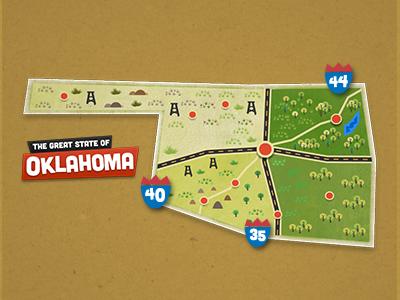 Oklahoma map small