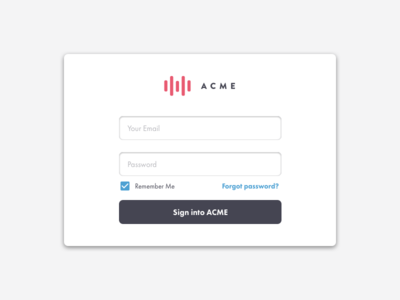 Daily UI 01 - Sign On
