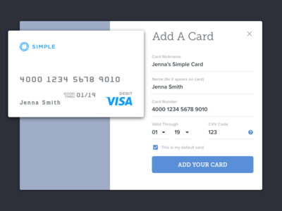 Daily UI 02 - Credit Card Info