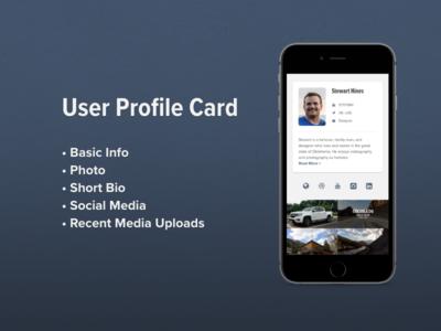 Daily UI: User Profile Card