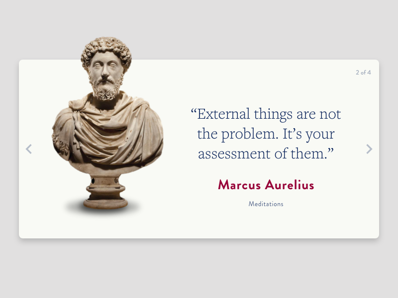 Quote Card stoic adobe xd ux ui card quote