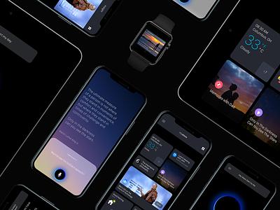My Alexa branding ui design debuts first shot mobile app design artificial intelligence smart home interaction design voice assistant visual design empathic design human experience my alexa alexa app ux ui design
