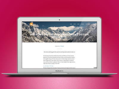 IDM Live clean web design website ui site live