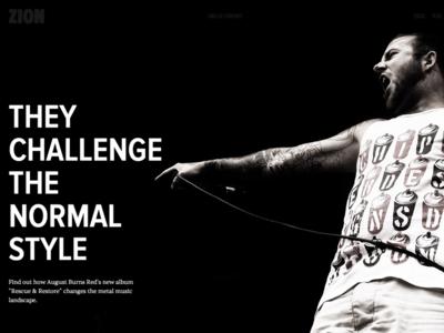 Christian Design Magazine magazine web site web design metal