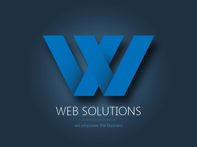 Web Solutions Logo logo iconic clean