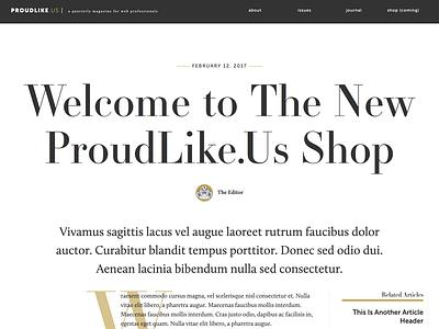 ProudLike.Us Magazine concept grid blog clean typogaphy web online magazine