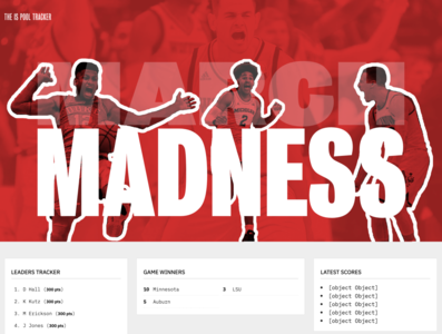 March Madness 2019 basketball website web design