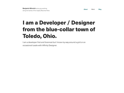 A Look At My Personal Site (3 of 7) personal blog typography grid website clean web design