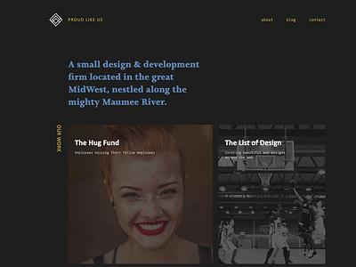 ProudLike.Us web site typography grid website clean web design