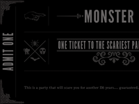 Monster Mash Ticket
