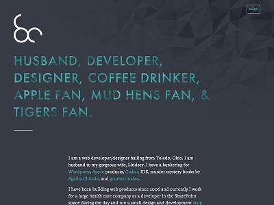 New Personal Site web design personal ui