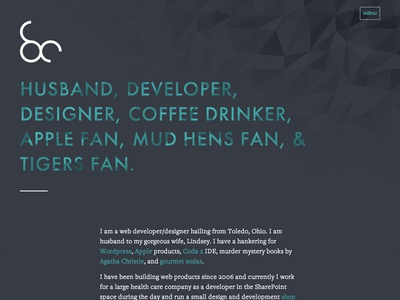 New Personal Site web design personal ui