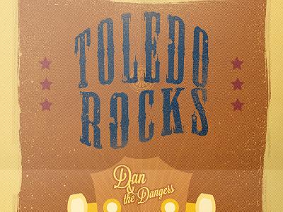 Toledo Rocks Poster poster toledo rock n roll play