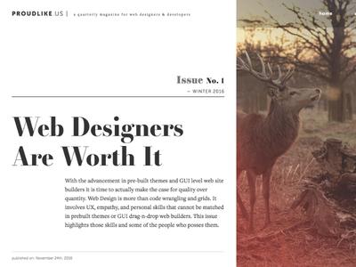 Proudlikeus typography web design web magazine