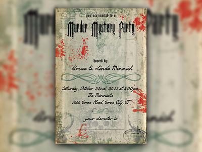 Murder Mystery Invites party invitations murder mystery