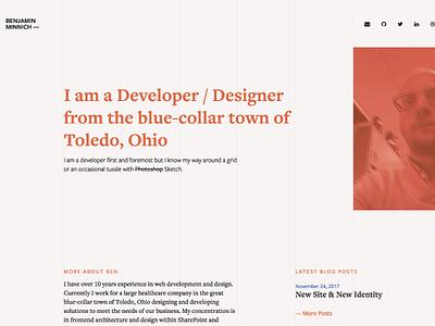 New Site portfolio personal freelance web design