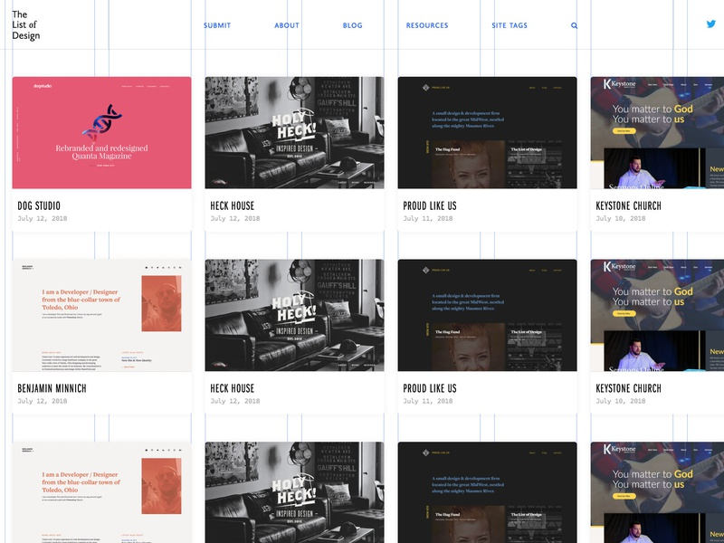 Thelistofdesign grid web design