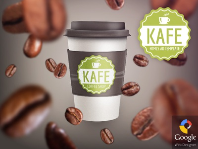 Kafe - HTML5 Coffee Shop Ad Template  google web designer gwd html5 ad banner template codecanyon adwords doubleclick promotion